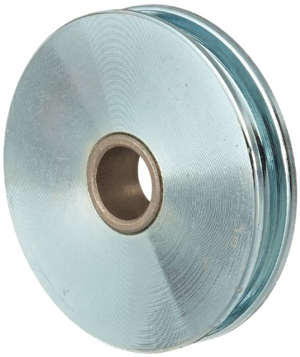 Indusco 75700021 Zinc Plated Steel Replacement Sheave with Bronze Bushed, 1550 lbs Working Load Limit, 5/16' Cable Size, 3-1/2' Diameter x 3/4' Bore
