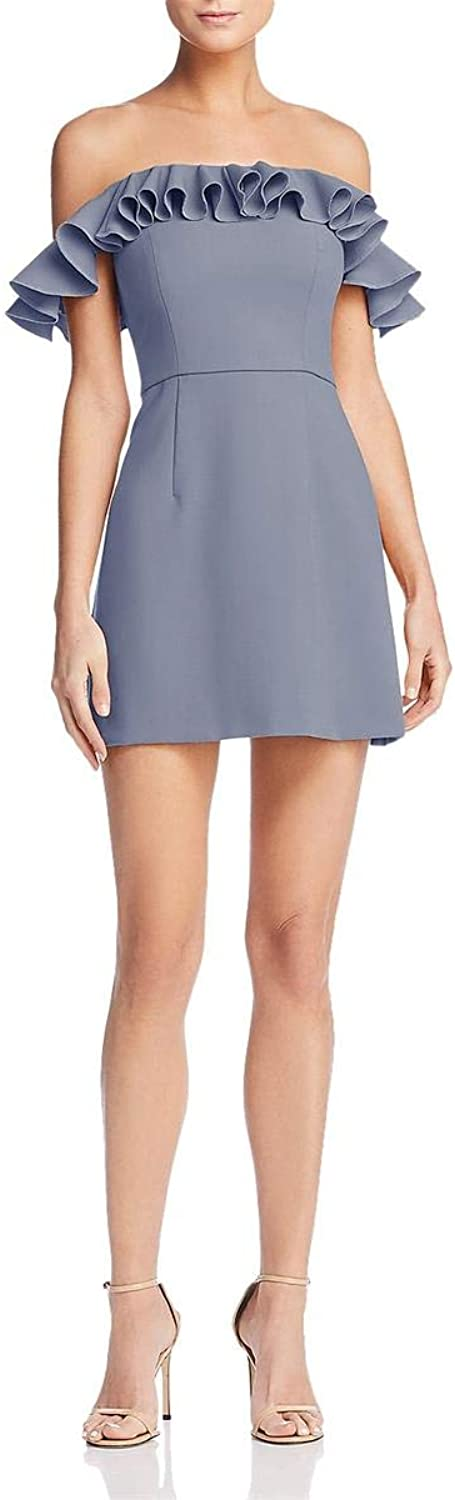 French Connection Womens Ruffled OffTheShoulder Cocktail Dress