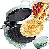 DSMGLRBGZ Crepera, Gofrera Waffle Maker Cacerola Máquina De Panqueques Antiadherente Desmontable 220 V Calefacción Doble para Panqueques Tortita Pizza