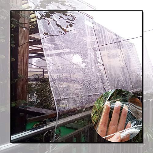 Lona MYAN Impermeable, Toldo Transparente con Ojales Resistente A La Intemperie Cubiertas Plegable Película para Jardín Muebles Lluvia Protección (Color : Clear, Size : 2.4x6m/7.9x20ft)