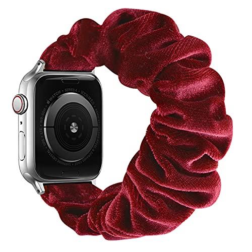 AdirMi Scrunchie Correa Elástica Compatible con Apple Watch Series SE 6 5 4 3 2 1, Patrón Estampado Cómoda Pulsera De Tela Compatible con iWatch 42mm/44mm 38mm/40mm,C,42/44mm(L)