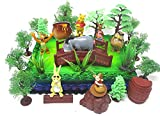 Winnie the Pooh Deluxe Cake Topper Set Featuring Pooh Bear and Friends Figures and Decorative Themed Accessories