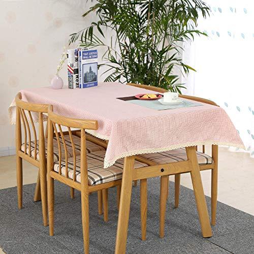 Onderhoudsvriendelijk, vuilafstotend, hoge temperatuurbestendigheid, keuze uit diverse kleuren en afmetingen, salontafel, eettafel, eenkleurig, katoen, vierkant, tafelkleed, afdekdoek, 5 x 150 cm.