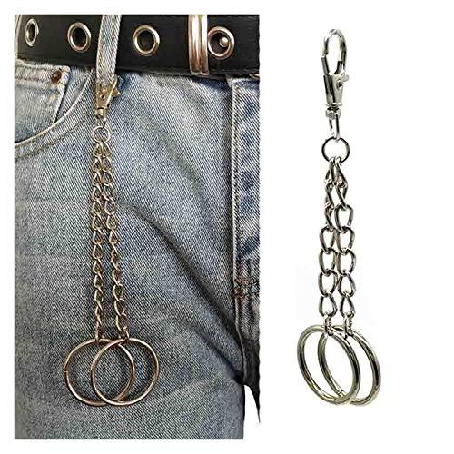xiaofeng214 Punk Pin Brieftasche Gürtelkette Rockhose Hipster Hose Schlüsselanhänger Jean Keychain Ring Clip Keying Schlüsselanhänger (Color : 13)