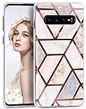 Imikoko Galaxy S10 Plus Case S10+ Glitter Marble Design for
