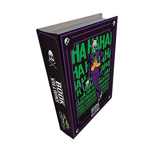 Book Box DC Comics Villains Colorido em Madeira - Urban - 25x17 cm