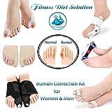Bunion Corrector and Hallux Valgus Pain Relief Kit   Orthopedic Big Toe Straightener   Adjustable Splint Protective Sleeves   Toe Separator Spacer, Splint Correction Aid for Women,Men - 10 Pack