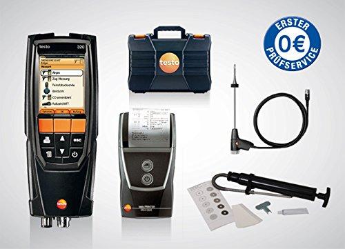 Set testo 320 basic Sonderedition Öl - 0563 3223 70 Öl - inklusive Kleinschmidt GmbH Rußpumpen-Set, inkl. erstem Service *