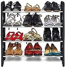KPM™ Easy to Assemble : Light Weight Foldable 4 Shelves Shoe Rack