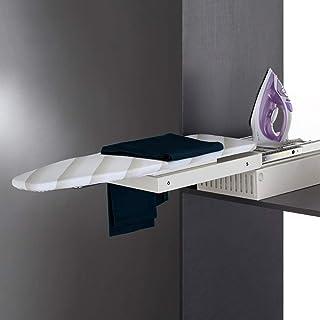 Nisorpa - Tabla de planchar plegable (37,8 x 12,2 x 3,5 pulgadas, giratoria, 180 °, plegable, con cajón de planchado, mesa de planchar retráctil con cubierta resistente al calor, para ahorrar espacio