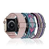 baklon 3 Piezas Compatibles con Correa de Reloj Apple 38mm 40mm 41mm,Correa de Nylon de Repuesto Compatible con iWatch Series SE/7/6/5/4/3/2/1