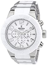 Festina Damen-Armbanduhr XL Trend Ceramic Lady Chronograph Edelstahl F16576/1