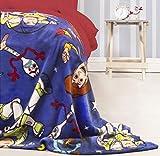 Manta de Forro Polar Oficial de Toy Story 4 | Blue Forky, Woody, Buzz Lightyear diseño súper Suave Cualquier Dormitorio