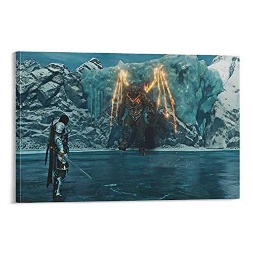 Poster su tela con ombra di guerra della Terra di Mezzo e Stampa artistica da parete Modern Family camera da letto Decor poster 30 x 45 cm