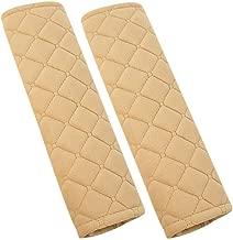 U&M 2pcs Seat Belt Covers, Soft Velvet Feel Car Belt Protector Shoulder Seatbelt Pad for Adults Youth Kids - Car, Truck, SUV, Airplane,Carmera Backpack Straps - by (Beige)