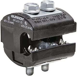 Burndy BIPC4/0-1/0 Burndy Insulation Piercing Connector, 4/0-1/0 AWG Run, 4/0-1/0 AWG Tap, 2.06