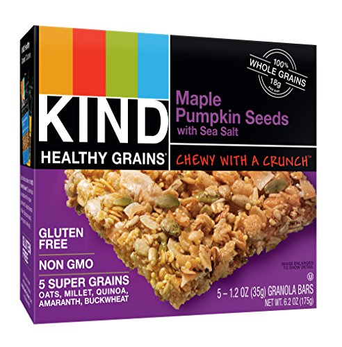 KIND Healthy Grains Bars, Maple Pumpkin Seeds with Sea Salt, Non GMO, Gluten Free, 1.2oz, 5 Count (Pack of 3)