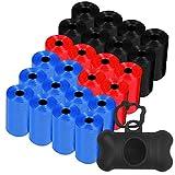 Bolsas excrementos perros (360) y un dispensador bolsas caca perro , el lote incluye las 360 bolsas en 24 rollos de 15 bolsa perros caca (Dispensador negro)