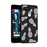 HELLO GIFTIFY Phone Case Compatible with Google Pixel 2 XL (6.0 inch 2017) Black Soft TPU Gel Protective Rubber Cover, Pineapple Pattern Designed