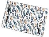 Set di 6 tovagliette con stampa di piume ad acquerelli, facili da pulire, resistenti, antiscivolo, resistenti al calore, resistenti al caffè, 45,7 x 30,5 cm