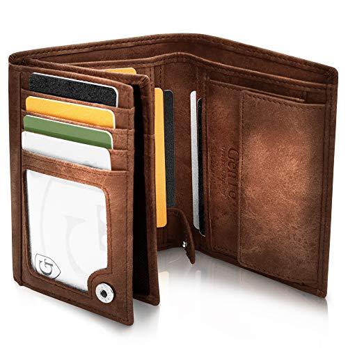 GenTo® Dublin Geldbörse mit Münzfach - TÜV geprüfter RFID, NFC Schutz - geräumiges Portemonnaie - Geldbeutel für Herren und Damen
