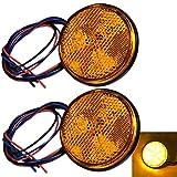 Discover winds LED リフレクター 24V 反射板 ダブル発光 トレーラー サイドマーカー リアマーカー ウインカー テールランプ (アンバー(オレンジ))