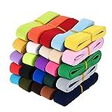 Berolle 25 Colors 50 Yards Elastic Band Elastic Stretch Twill Sewing Elastic BandKnit Elastic Band for DIY Craft Sewing, 3/4 inch Wide