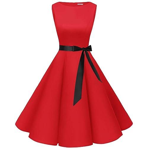 Red 50s Dresses Amazoncouk