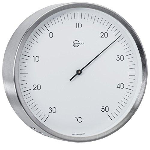 BARIGO Außen-Thermometer Ø 132mm, Edelstahl, silber