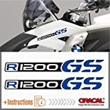 2pcs R1200 GS Motorrad R 1200 Adventure ADESIVI R1200GS (Black/Blue)