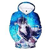 PLMNK Noragami Suéter con patrón de Anime de Dibujos Animados en 3D, suéter de Bolsillo de Manga Larga, Sudadera con Capucha Unisex, Camisa Deportiva Informal XS