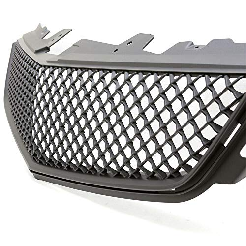 Fits 2008-2014 Cadillac CTS-V Matte Black Mesh UPPER and BUMPER Grille Grill