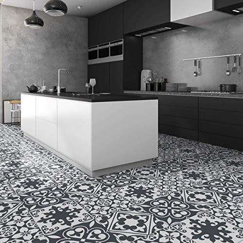 Ambiance-Live Autoadhesivo con dibujo de baldosas, para suelos, leandro col-floor-RV-0582_40x40cm