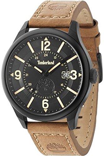 Timberland Blake Reloj para Hombre Analógico de Cuarzo con Brazalete de Piel de Vaca 14645JSB-02