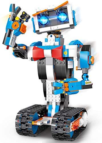 okk RC-Baustein-Roboterspielzeug für Kinder mit App-Steuerung, Erziehungswissenschaft STEM Build Interactive Smart Robotic Kit für 8 9 10 11 12 Jahre alte Jungen und Mädchen Geschenk (635 Stück)
