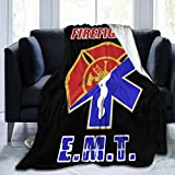 YUNTONG Firefighter EMT Throw Blanket Ultra-Soft Micro Fleece Blanket Movies Blanket for Bed Couch Living Room