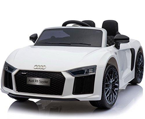 Audi Lizenzierte R8 Spyder 12V Form-Elektrische Fahrt auf Auto-Weiß