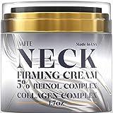 Neck Firming Cream - Double Chin Reducer - Retinol & Collagen Skin Tightening Cream - Anti-Aging Moisturizer for Neck - Saggy Neck TIghtener - Anti Wrinkle Cream - Made in USA