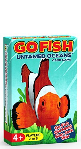 Arizona GameCo Go Fish Untamed Oceans - Go Fish, Old Maid, Slap Jack and War - Play 4 Classic Card...