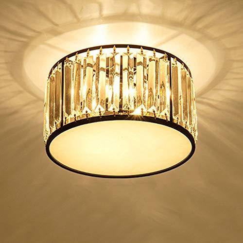 LED-Kristalldeckenleuchte Moderne Runde Acryl Schatten E14 × 3 Lampenhalbeinbau Lampe Schwarz Für Schlafzimmer Esszimmer Wohnzimmer Terrasse