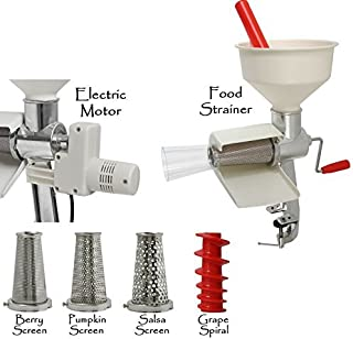 Victorio VKP250 Food Strainer Complete, 14.1 x 9 x 7.5 inches, White