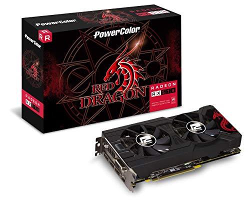 Placa de Vídeo VGA PowerColor AMD Radeon RX 570 Red Dragon 4GB, GDDR5, 256 Bits - AXRX 570 4GBD5-3DHD/OC