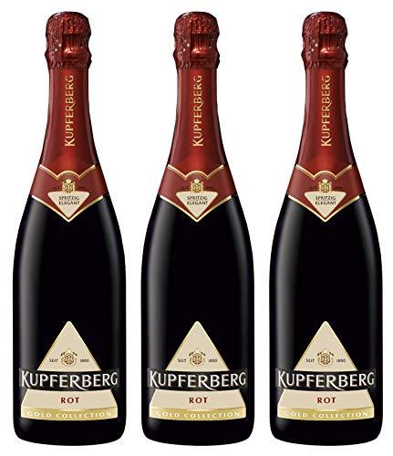 Kupferberg Gold Sekt Rot Halbtrocken (3 x 0.75 l)
