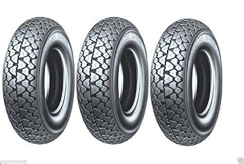 Trois pneus Pneu Michelin s83 3.50 10 59J TL pour piaggio vespa pX 125 150 200