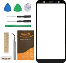 CrazyFire Compatible with Samsung Galaxy A6+ Plus 6.0 inch Front Outer Touch Screen Glass Lens Replacement,Screen Lens Glass with Repair Tool Kits for SM-A605G/DS(All Cellular and Wireless Carriers)