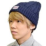 (エバーラスト) EVERLAST メンズ レディース ニット キャップ 帽子 KNIT CAP EL-CP-ST-028 (フリー(約56-59cm), ネイビー)