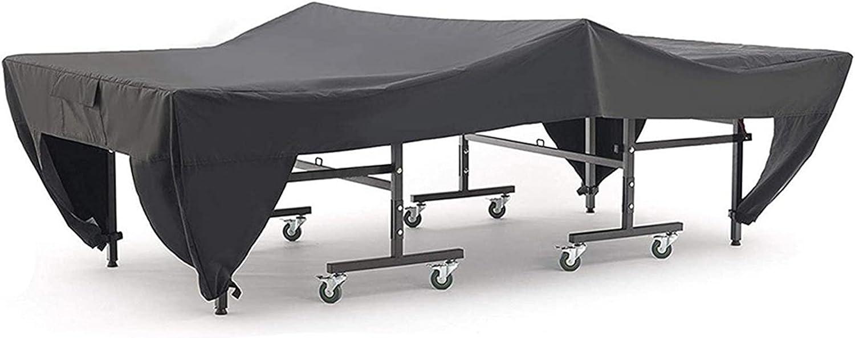 Honeyhouse Cubierta de mesa de tenis de mesa, 280 x 150 cm, impermeable, resistente al polvo, resistente al agua, resistente al agua, resistente al agua, color negro
