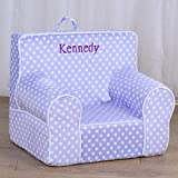 DIBSIES Personalized Creative Wonders Toddler Chair - Ages 1.5 to 4 Years Old (Light Purple with White Polka Dots)
