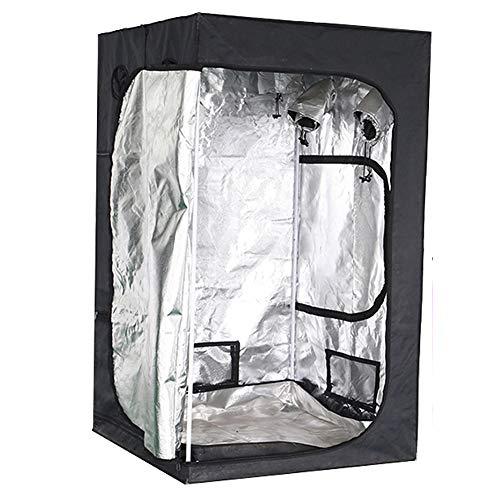 ZXCAM Growbox Complete Set Indoor Culture Room Pack - Tienda de Tela Oxford 600D - Incluye lámpara de Crecimiento de Filtro de Ventilador (60x60x140cm)(Grow Box)