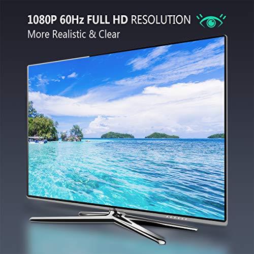 『HDMI to VGA, Benfei 金メッキコネクタ搭載1080P HDMI オス to VGAメスビデオ変換アダプタケーブル PC DVD HDTV用』の5枚目の画像